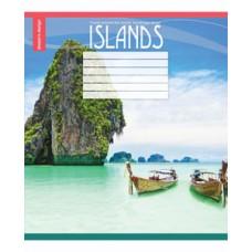 Тетрадь 24 листа в линию (2914л) Острова