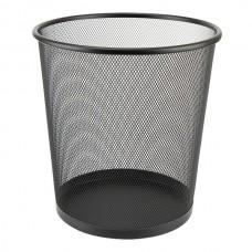 Корзина д / мусора круглая, металлическая, черная Optima