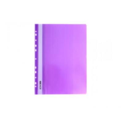 Папка-скоросшиватель А4 Economix с перфорацией, фактура апельсин, фиолетовая