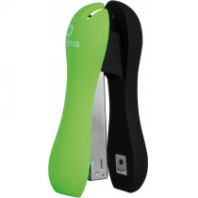 Степлер №24/6, 26/6 Optima, до 20 листов, Soft Touch, пласт. корпус, зеленый
