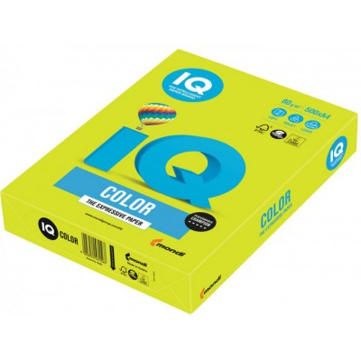 Бумага А4 IQ Color Neon Yellow желтая