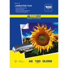 Пленка для ламинирования 100 мкм, A6 (111x154мм), 100 шт.