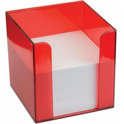 Подставка под бумагу для заметок Economix 90*90*90, красная
