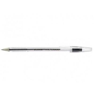 Ручка шариковая Zebra the 2000 BK черная The 2000 (Cristal)