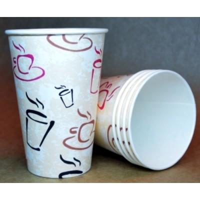 Стаканы из картона 12 / 1РЕ 330 мл 100 шт / уп (чашка)