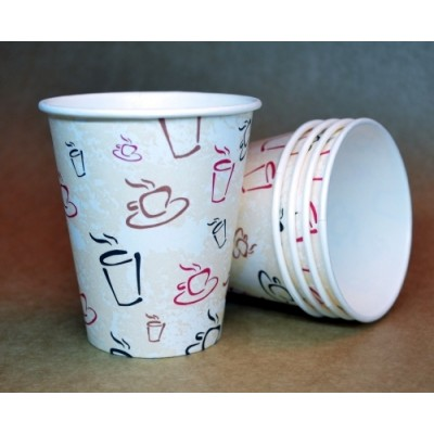 Стаканы из картона 6 / 1РЕ 175 мл 100 шт / уп (чашка)