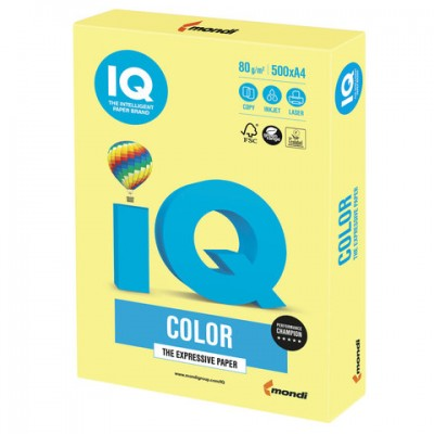 Бумага А4 IQ Color ZG34 Lemon Yellow (желтый)