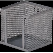 Бокс для бумаги 100х100х100 мм, металлический, серебро