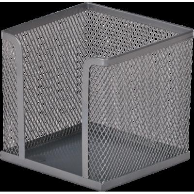 Подставка для бумаги 100х100х100 мм, металлический, серебро