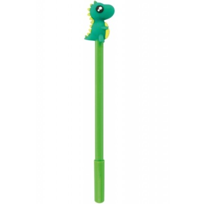 Ручка шариковая гелевая Dinosaur, пишет синим, ассорти