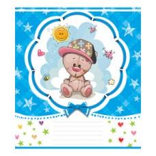 Тетрадь 12 листов в клетку (2797к) Милый медвежонок