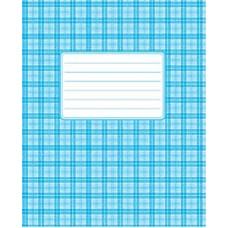 Тетрадь 18 листов в клетку (1650к) голубая обложка, картон