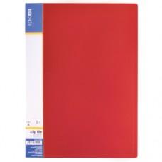 Папка А4 с боковым прижимом Economix CLIP B, красная