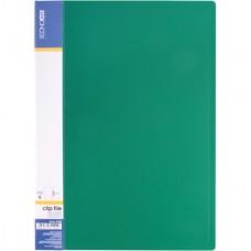 Папка А4 з боковим притиском Economix CLIP B, зелена