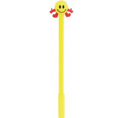 Ручка шариковая гелевая Smile, пишет синим, ассорти