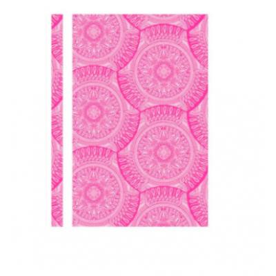 Папка-скоросшиватель А4 Optima без перфорации «Калейдоскоп», фактура «глянец», розовая