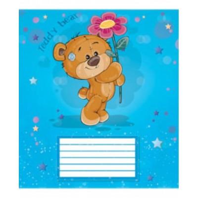 Тетрадь 12 листов в клетку (2794к) Мишка Тедди
