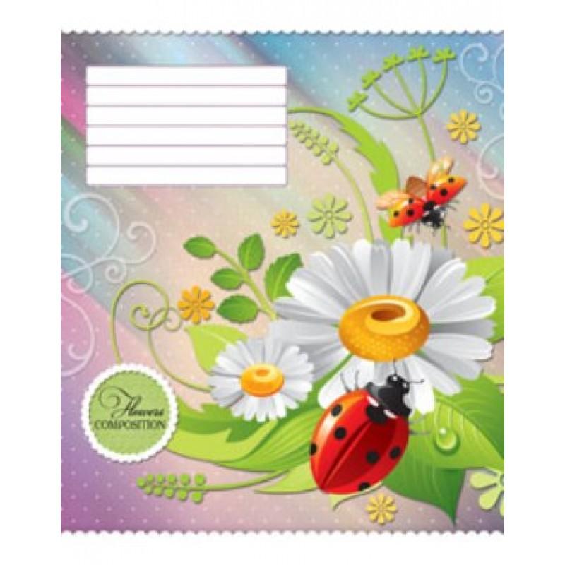 Тетрадь TM Green 18 листов в клетку (3055к) Цветы