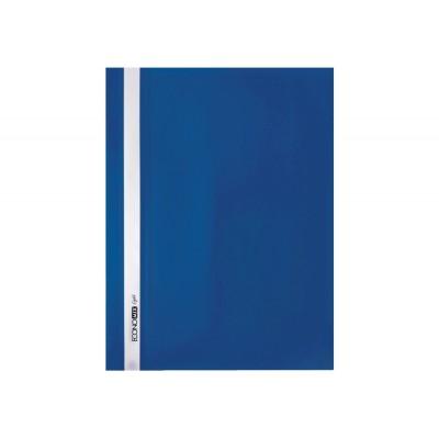 """Папка-скоросшиватель А4 Economix Light без перфорации, фактура """"Апельсин"""", синяя"""