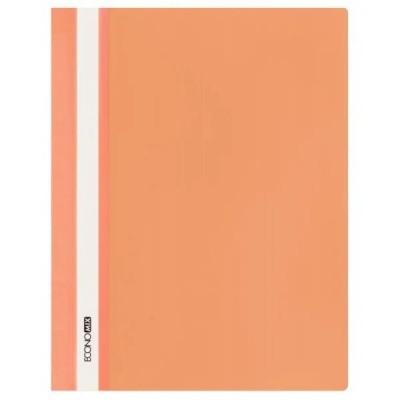 Папка-скоросшиватель А4 без перфорации, Economix, оранжевая