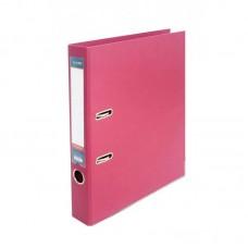 Папка регистратор А4 50 мм Люкс Economix, розовая