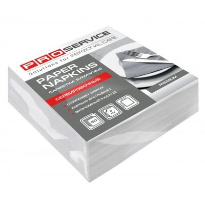 PROservice Premium Салфетки 33х33 двухслойные белые составления 1/8 50 шт (30 шт / ящ)
