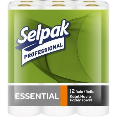 Полотенце бумажное кухонное двухслойные Selpak Proservise Essential 12,5 м 12 рулонов