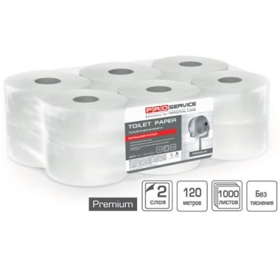Туалетная бумага PROservice Premium двухслойная с краевым тиснением 12 рулонов/упаковка 120 м