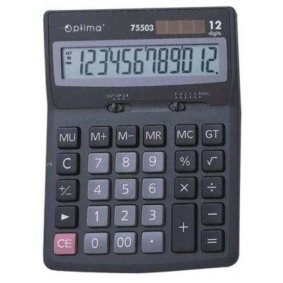 Калькулятор настольный Optima, 12 разрядов, размер 170 * 122 * 32 мм