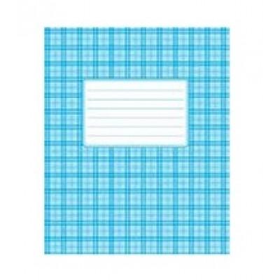 Тетрадь 24 клетка картон (1650к) голубая обложка