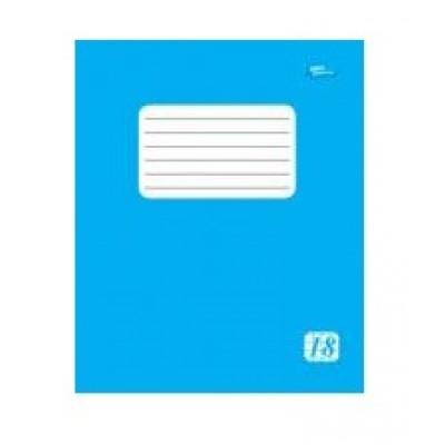 Тетрадь 18 листов клетка эконом класса + (2225к) голубая обложка