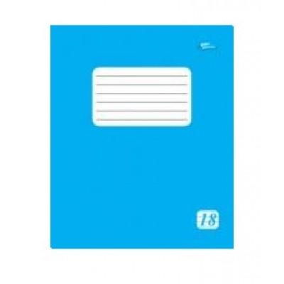 Тетрадь 18 линия эконом класса голубая обложка