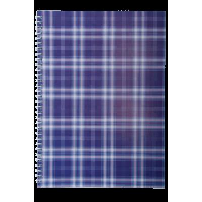 """Тетрадь на пружине, А-5, 48л., """"Shotlandka"""", фиолетовый, клетка, картонная обложка"""