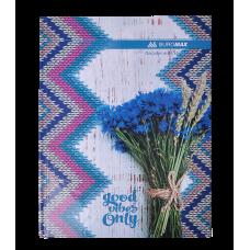 """Книга учета """"ROMANTIC"""" 96 листов/клетка, офисная (твердая ламинированная обложка), А4, синяя"""