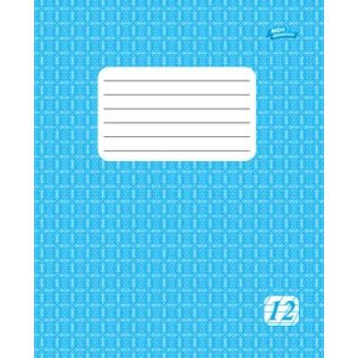 Тетрадь в линию, 12 листов, А5, голубая обложка
