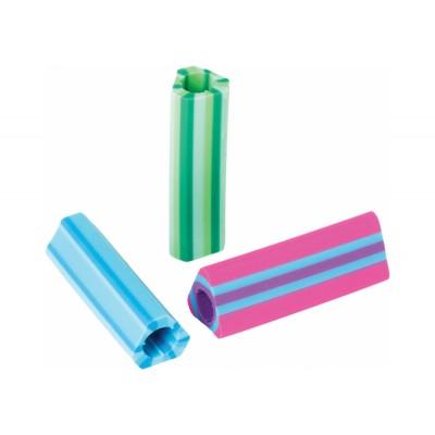 Треугольная резинка-грип для карандаша Stripy, цвета ассорти