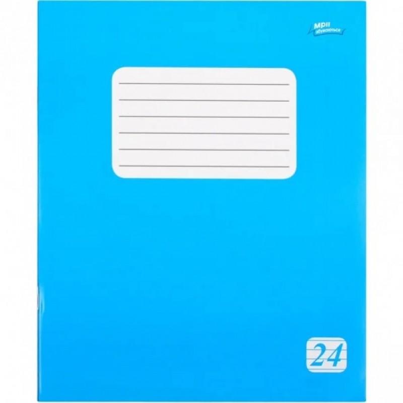 Тетрадь 24 линия эконом класса + (2225л) голубая обложка