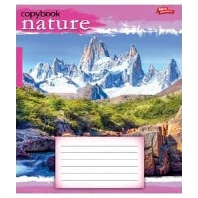 Тетрадь 18 листов линия green (2619л) пейзаж