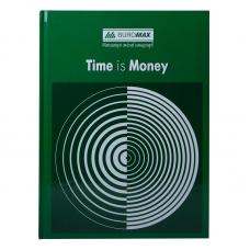 """Книга учета """"TIME IS MONEY"""" 96 листов/клетка, офисная (твердая ламинированная обложка), А4, зеленая"""