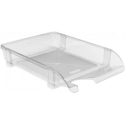 Лоток для бумаг горизонтальний Economix, пластик, прозрачный