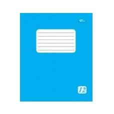 Тетрадь 12 листов линия голубая обложка