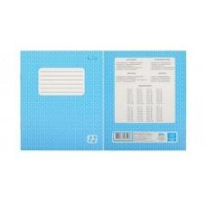 Тетрадь с голубой обложкой в клетку. 12 листов