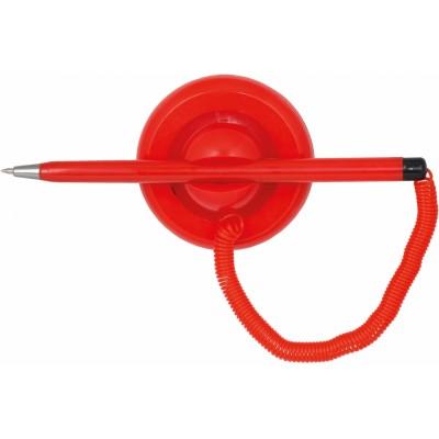 Ручка шариковая на подставке ECONOMIX POST PEN 0,5мм. корпус красный, пишет синим