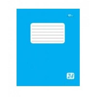 Тетрадь 24 листов клетка эконом + (2225к) голубая обложка