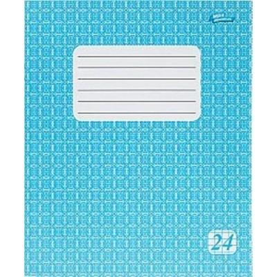 Тетрадь 24 листов клетка эконом класса (2326к) голубая обложка