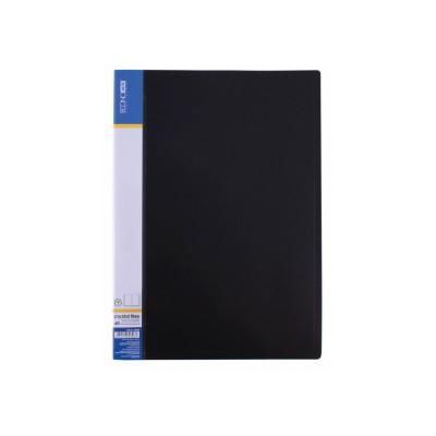 Папка А4 с 60 файлами Economix, черная