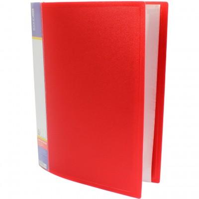 Папка А4 с 60 файлами Economix, красная