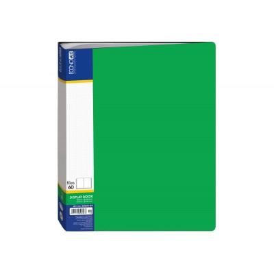 Папка А4 с 60 файлами Economix, зеленая