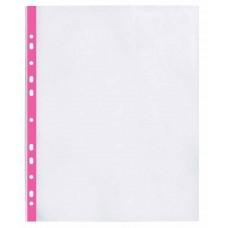 """Файл для документов А4 + Optima, 40 мкм, фактура """"глянец"""", с розовой лентой (20 шт / уп)"""