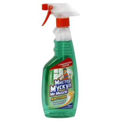 Жидкость для мытья стёкол Мистер Мускул с распылителем 500мл